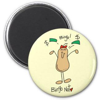 Bingo-Nuss-T-Shirts und Geschenke Runder Magnet 5,1 Cm
