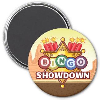 Bingo-Show-down-Magnet Runder Magnet 7,6 Cm