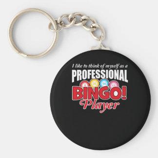 Bingo-Spieler denken sich, wie beruflich Schlüsselanhänger