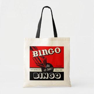 Bingo-Spieler-Taschen-Retro Art-Bingo-Taschen-Tasc Budget Stoffbeutel