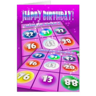 Bingo-verrückte Geburtstags-Karte