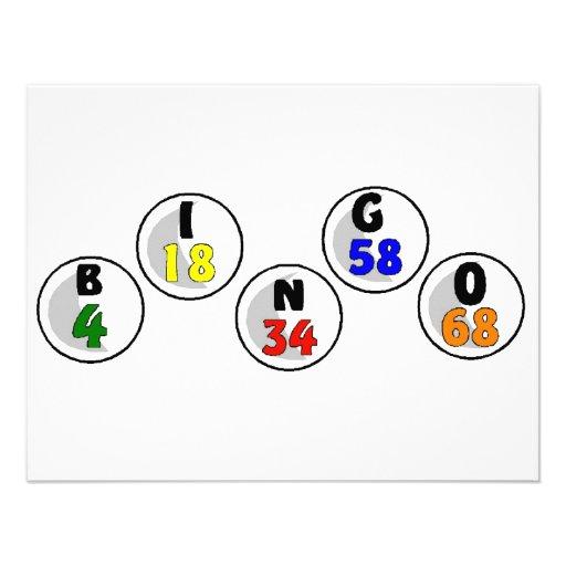 Bingo-Zahlen Individuelle Ankündigskarten