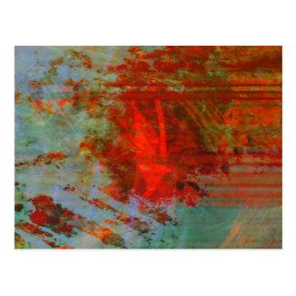 Bio abstrac #1472 postkarte