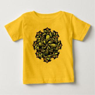 Bio Baby-Ausstattung, niedliche Blume, gelbes Baby T-shirt