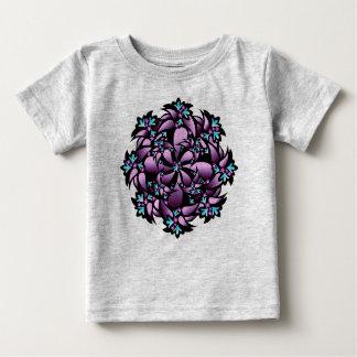 Bio Baby-Ausstattung, niedliche Blume, lila blaues Baby T-shirt