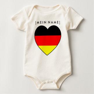 Bio-Babybody Namen-Herz Deutschland zur WM 2010 Baby Strampler