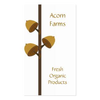 Bio Bauernhof mit Eichel Visitenkartenvorlage