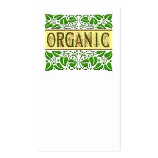 Bio Blättern verlässt Geschäfts-Karten-Schablone Visitenkarten