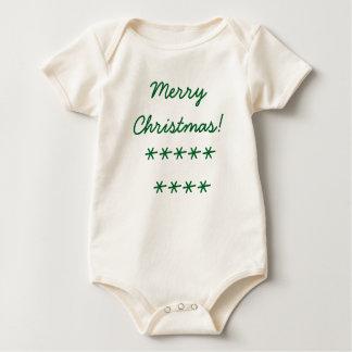 Bio Bodysuit der frohen Weihnachten Baby Strampler