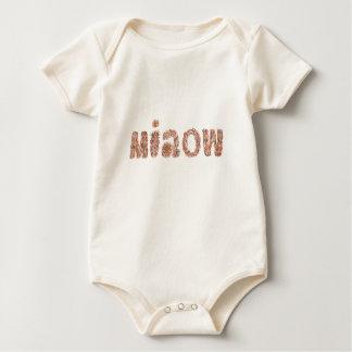 Bio Bodysuit des Babys mit 'miaow Baby Strampler