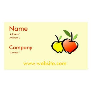 Bio Erzeugnis-Geschäfts-Karte Visitenkarte