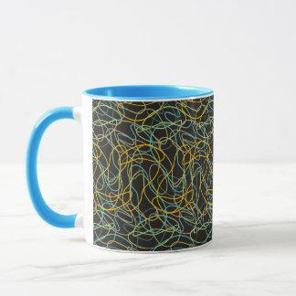 Bio Formen mit schwarzem Hintergrund Tasse