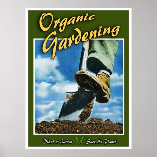 Bio Gartenarbeit Plakatdrucke