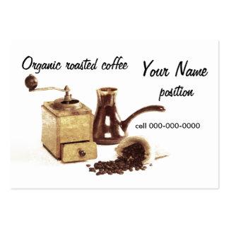 Bio gebratene Kaffeegeschäftskarte Jumbo-Visitenkarten