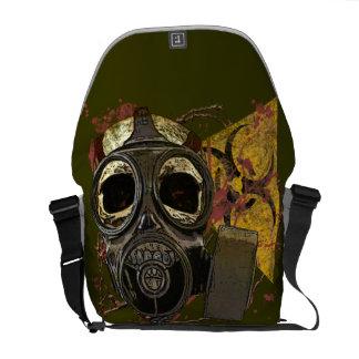 Bio-Gefahrngasmaske-Schädel Kurier Tasche