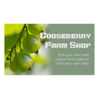 Bio Geschäfts-Karte der Bauernhof-Produkt-CC0209 Visitenkarten