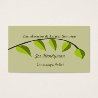 Bio   grüne Baum-Niederlassung Visitenkarte