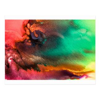 Bio Malerei des abstrakten Farbspritzens Postkarte