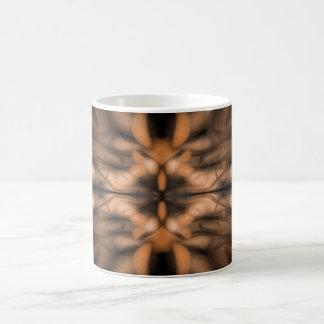 Bio Muster der orange Fantasie Kaffeetasse