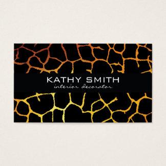Bio Muster | modern, Gold Visitenkarte