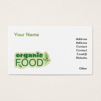Bio Nahrung Visitenkarte