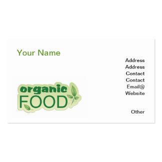 Bio Nahrung Visitenkarten Vorlage