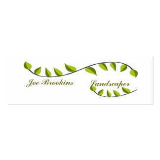 Bio natürliche grüne Blatt-Illustration Mini-Visitenkarten