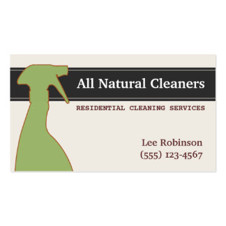 Bio natürliche Reinigung hält Grün instand Visitenkarten