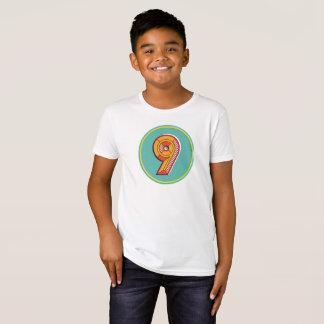 Bio T - Shirt der Kinderzahl-9