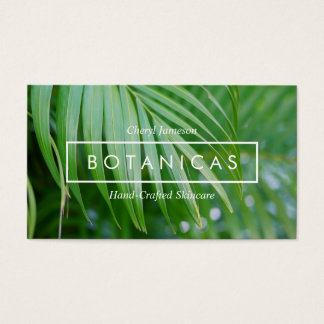 Bio tropische Blätter-Haut-Sorgfalt, Visitenkarte