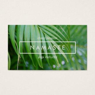 Bio tropisches Blätter-Yoga, Meditation, Visitenkarte