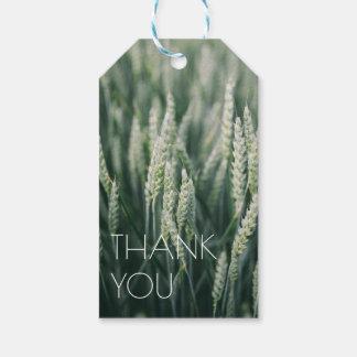 Bio Weizen natürliches | danken Ihnen Geschenkanhänger