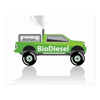 BiodieselLieferwagen-LKW Postkarte