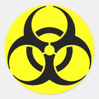 Biogefährdung! Aufkleber
