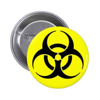 Biogefährdung! Anstecknadelbutton