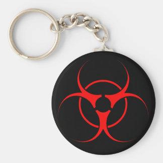 Biogefährdung Keychain Biogefährdung-warnende Schl Standard Runder Schlüsselanhänger