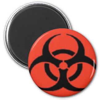 Biogefährdung-Logo-Magneten Runder Magnet 5,7 Cm