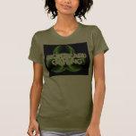 Biogefährdung-Spiel-Frauen Alt das Shirt der grüne