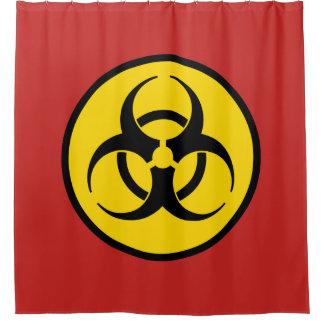 Biogefährdung-Symbol Duschvorhang