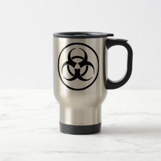 Biogefährdung-Symbol Edelstahl Thermotasse