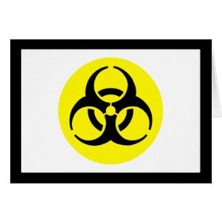Biogefährdung-Symbol Karte