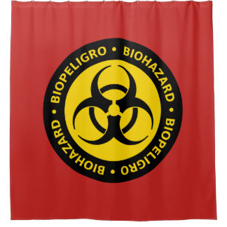 Biogefährdung-Warnzeichen Duschvorhang