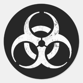 Biogefährdung: Zombie-Ansteckungs-Aufkleber Runder Aufkleber