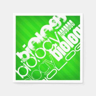 Biologie; Grüne Neonstreifen Serviette