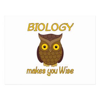 Biologie klug postkarte