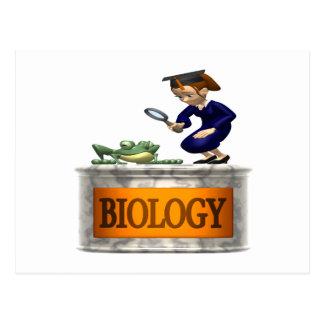 Biologie Postkarte