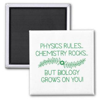 Biologie wächst auf Ihnen Quadratischer Magnet