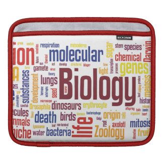 Biologie Wordle iPad Hülse Sleeve Für iPads
