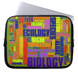 Biologie Wordle Laptop-Tasche Laptopschutzhülle