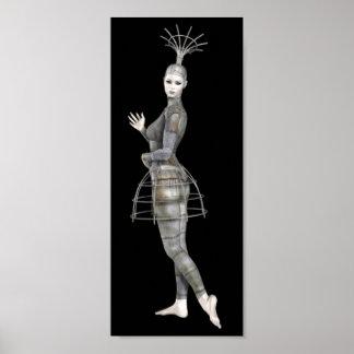 Biomechannequin Frau 2 - 3D Goth Mannequin Poster